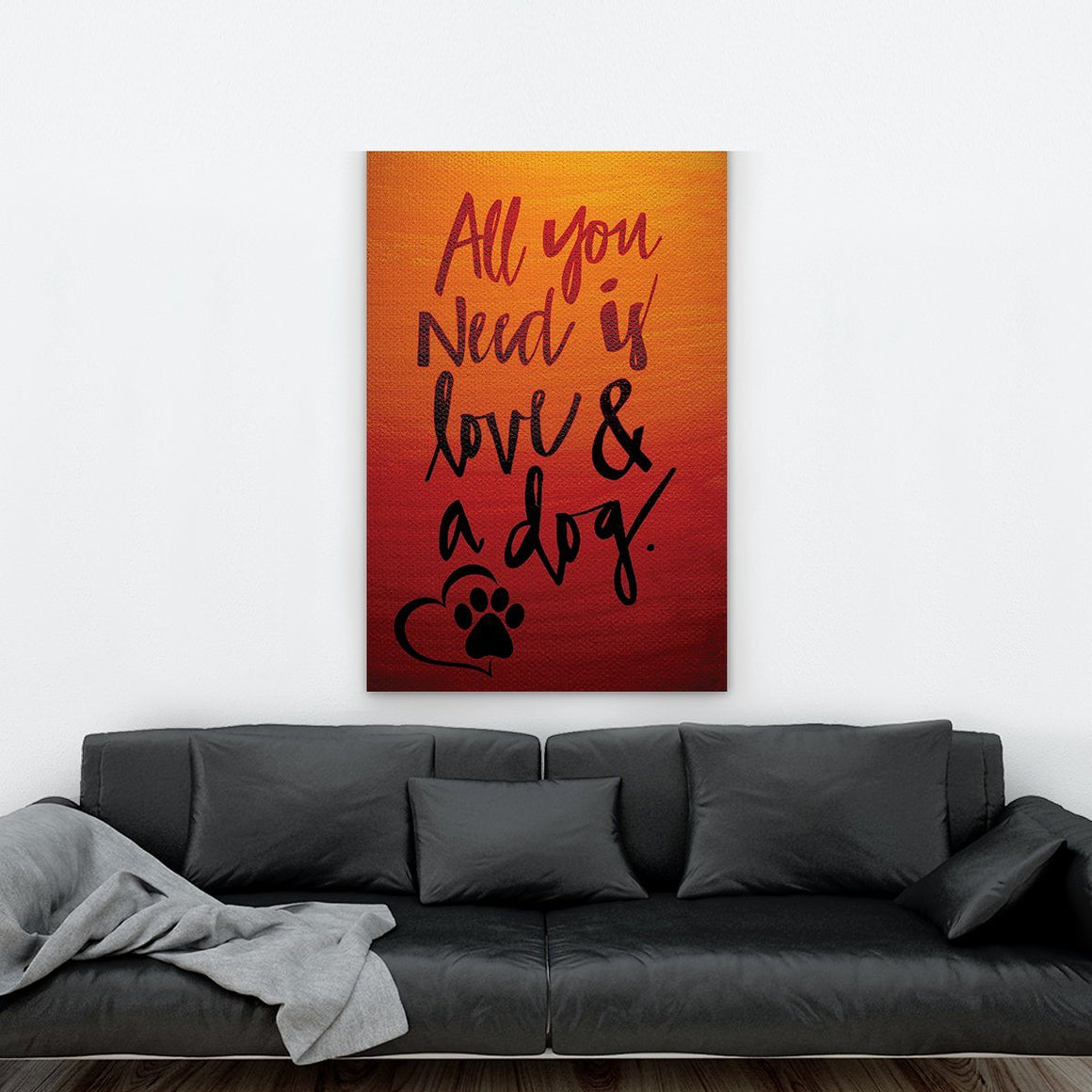 Love and Dog 2 Canvas