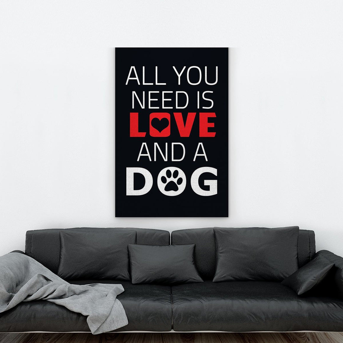 Love and Dog Canvas