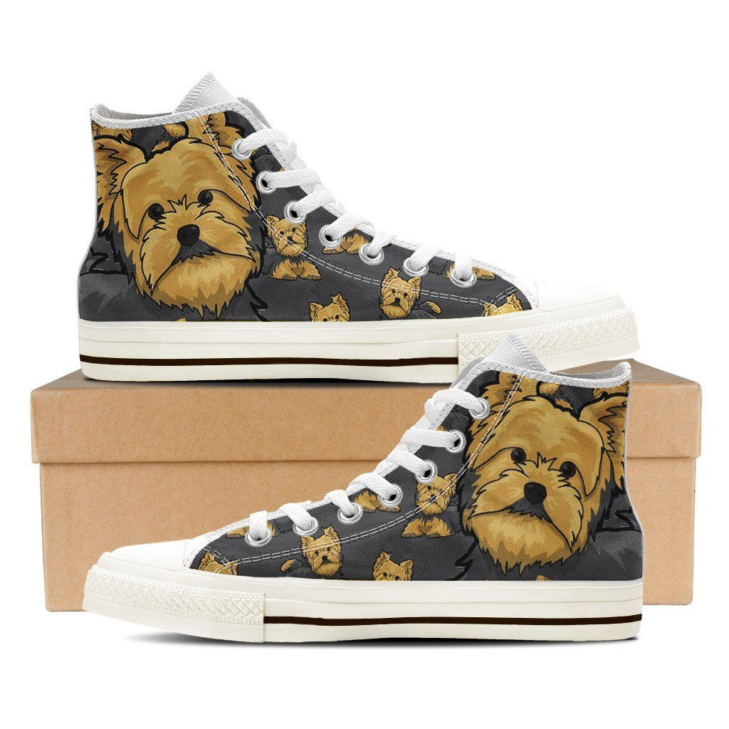 Buy Yorkie Lover Mens White Shoes Shoes