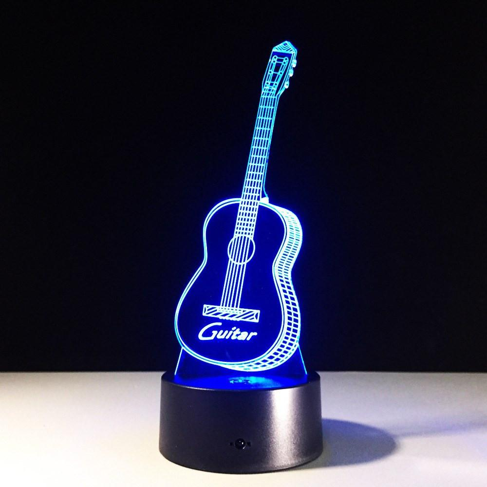 Guitar 3D Night Lights