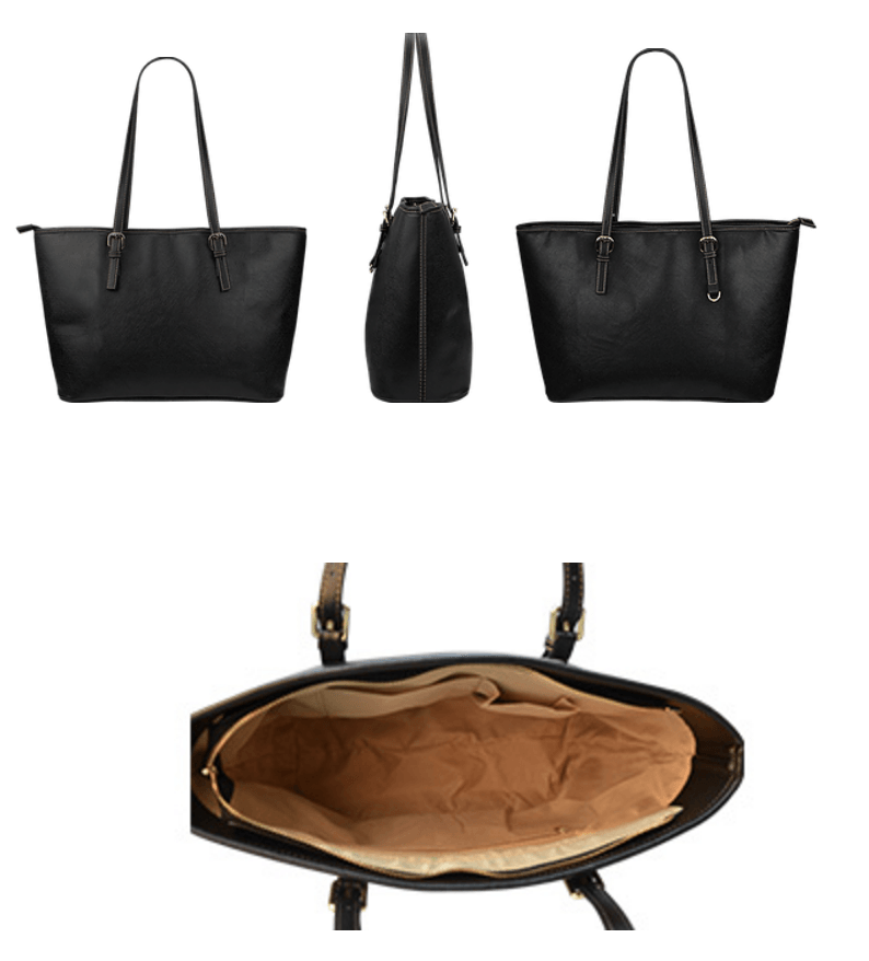Drums Large Leather Tote Bag