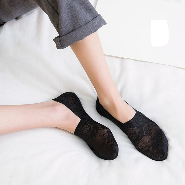 c4cd0eeced11b Buy Cute Lace Flower Socks: Sock Slippers | Sock Slippers