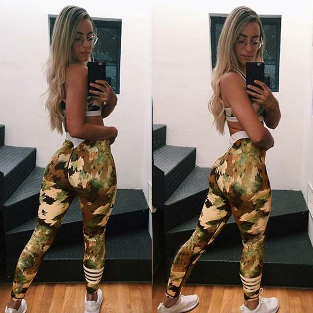 Athletic Women Camouflage Fitness Leggings