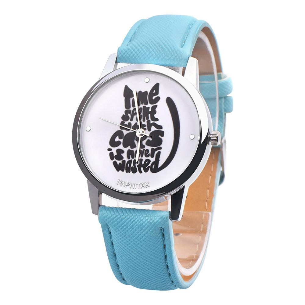 Cat in Words Themed Watch