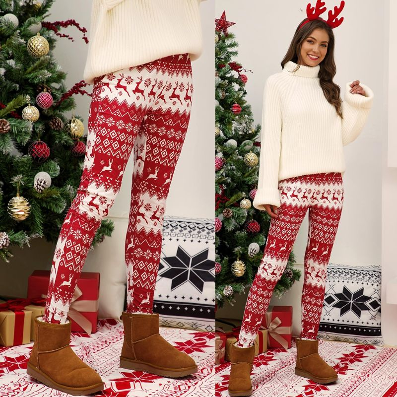 Heidi line of Christmas and Holiday Leggings Polyester Spandex