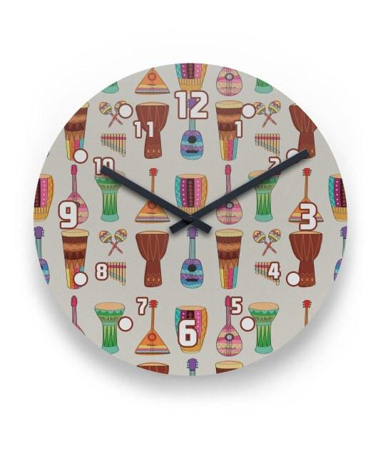 Ethnical Intruments Wall Clock