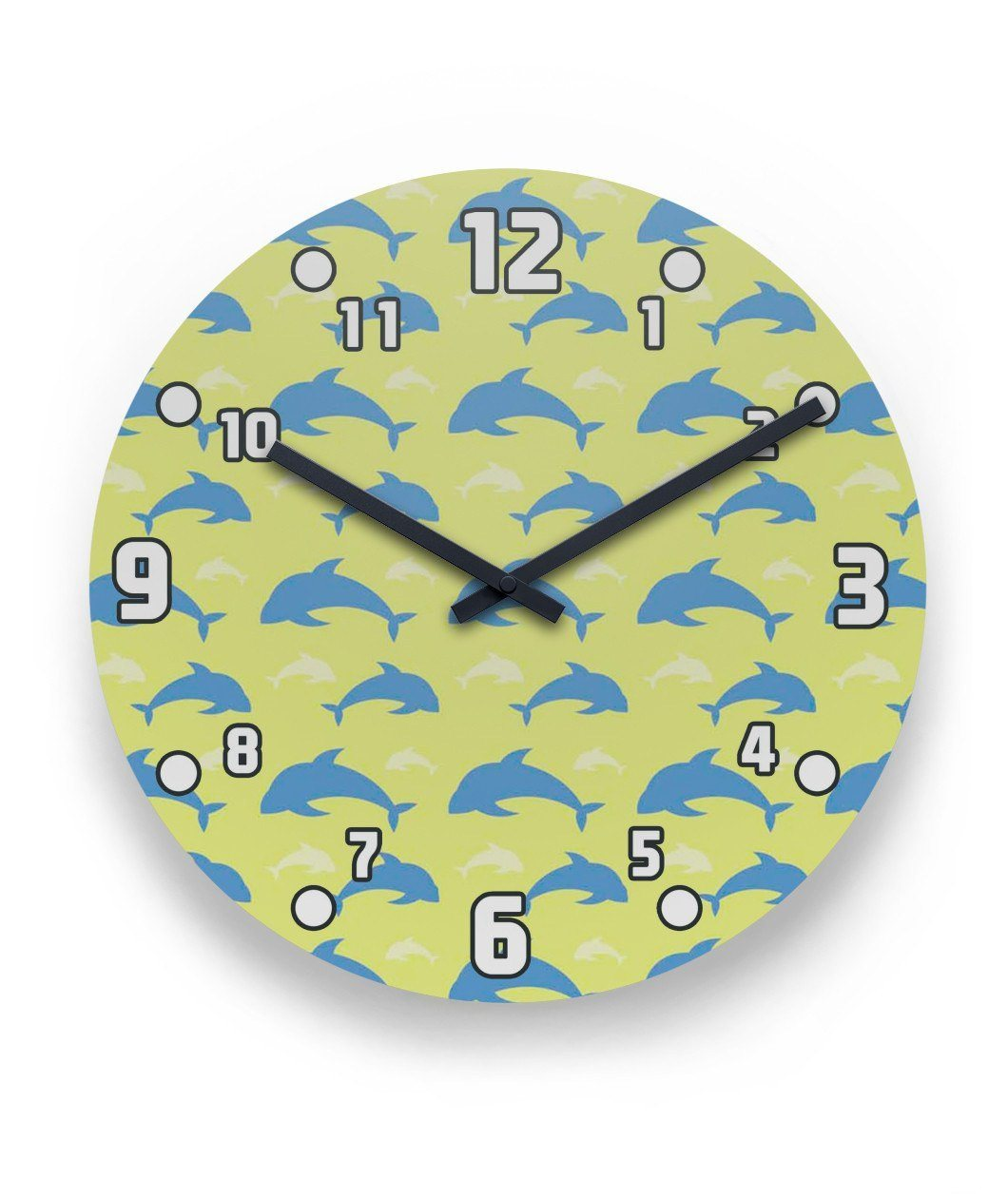 Dolphin 3 Wall Clock