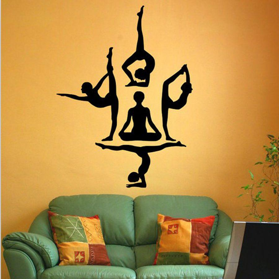 Buy Yoga Wall Stickers: Wall Stickers | Wall Stickers