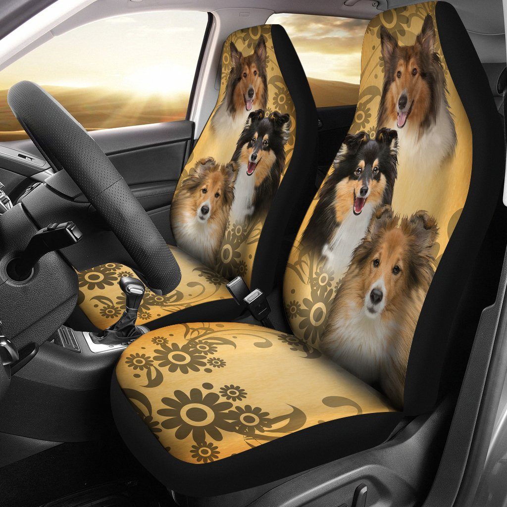 COLLIE CAR SEAT COVERS (SET OF 2)