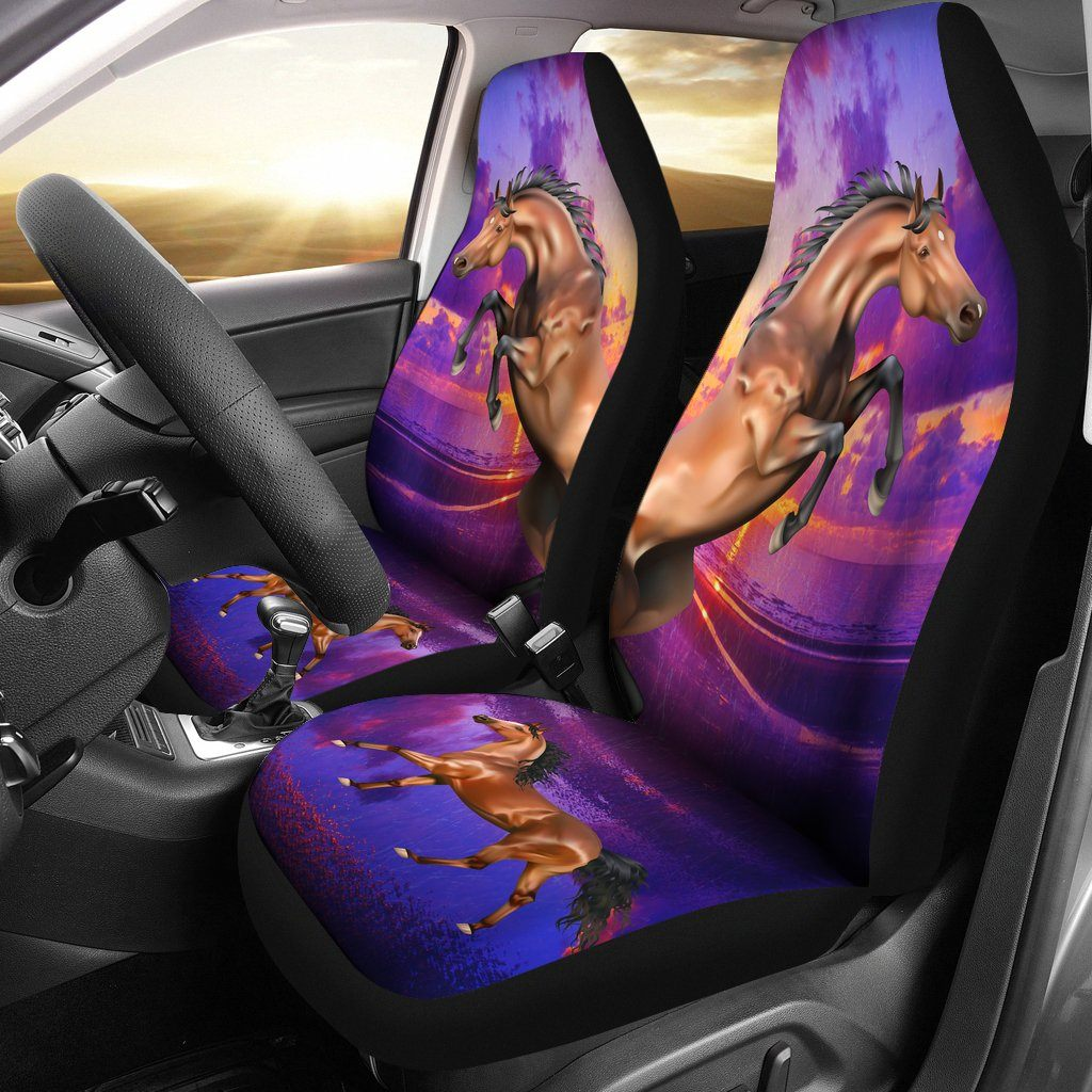 HORSE LOVE CAR SEAT COVERS SET OF 2