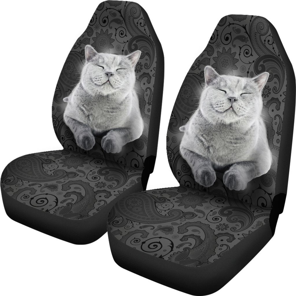 British Short Hair Dog Themed Car Seat Covers (SET OF 2)