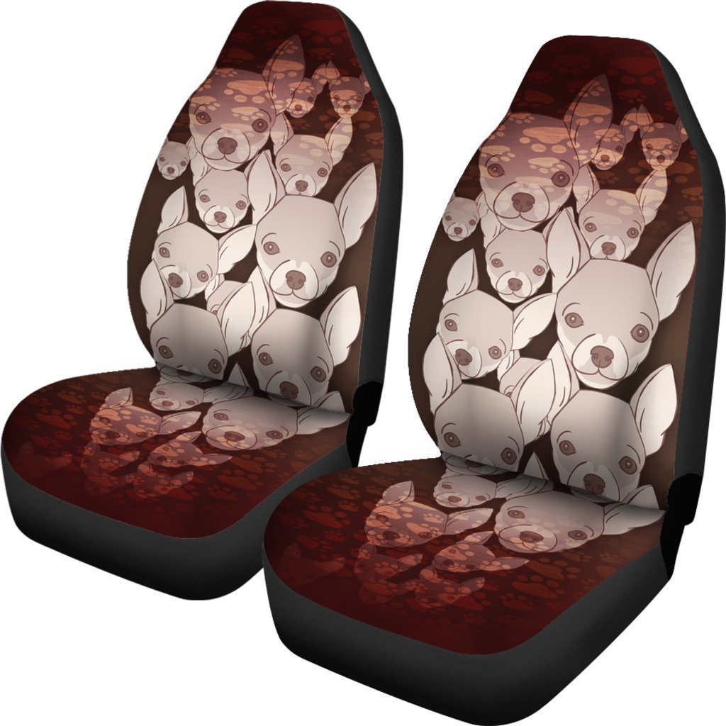 Chihuahua Dog Themed Car Seat Covers (SET OF 2)