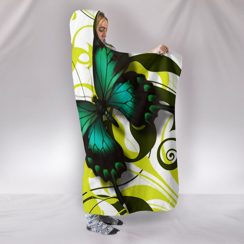 Butterfly Themed Hooded Blanket