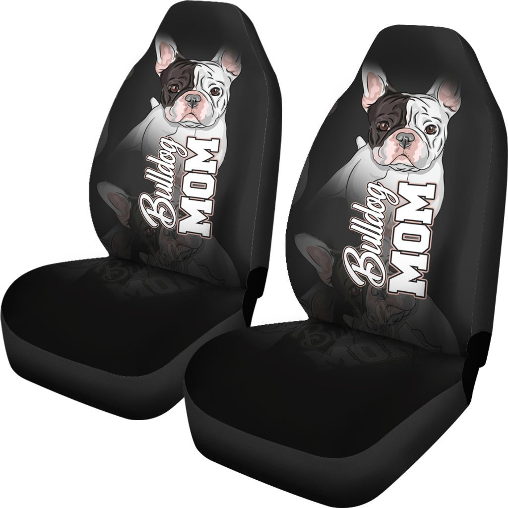 Bulldog Mom Themed Car Seat Covers (SET OF 2)