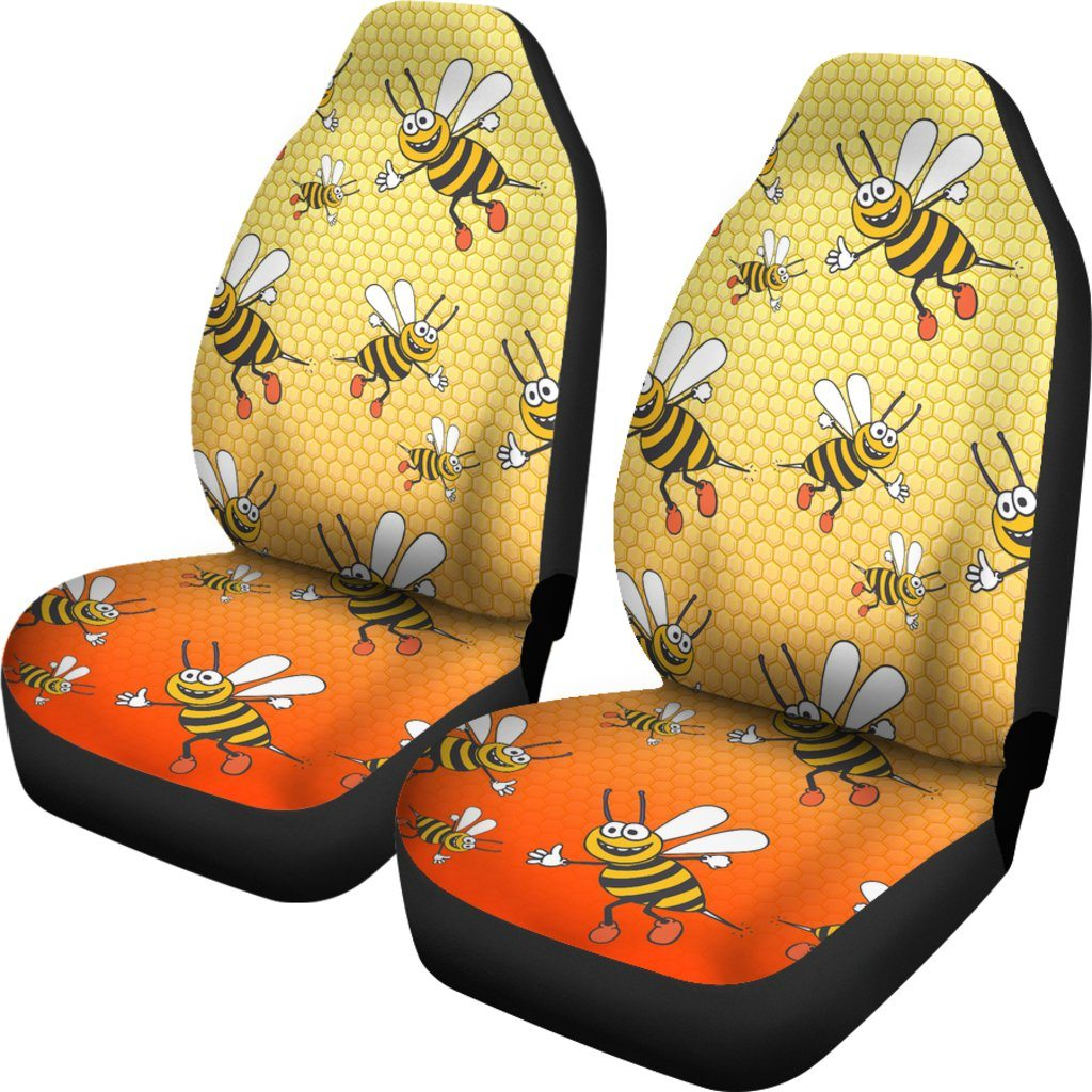 Bee Themed Car Seat Covers (SET OF 2)