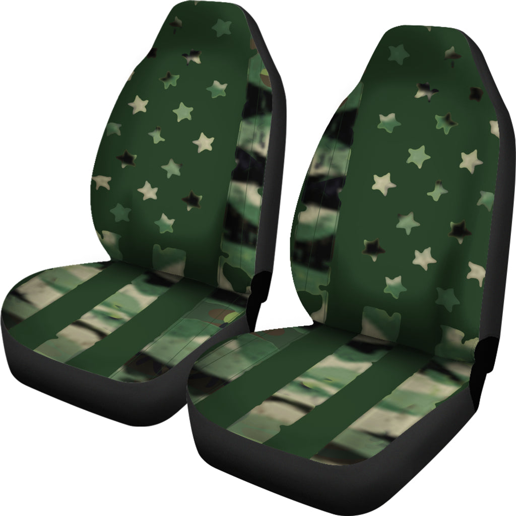 Camo Flag Themed Car Seat Covers (SET OF 2)