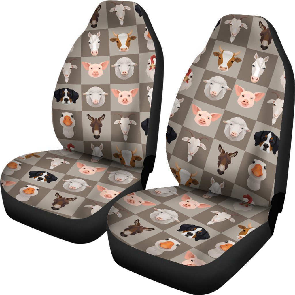 Farm Animals Themed Car Seat Covers (SET OF 2)