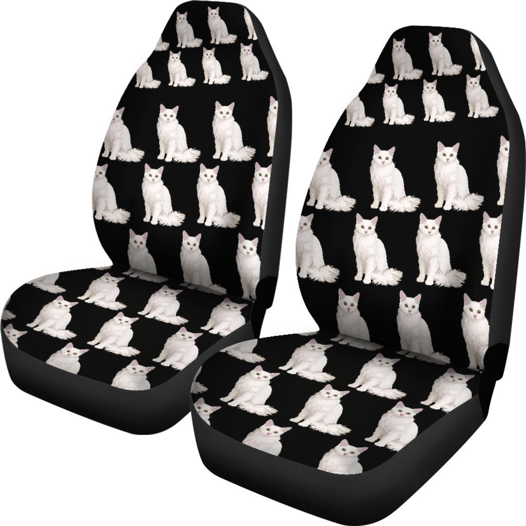 Angora Cat Themed Car Seat Covers (SET OF 2)