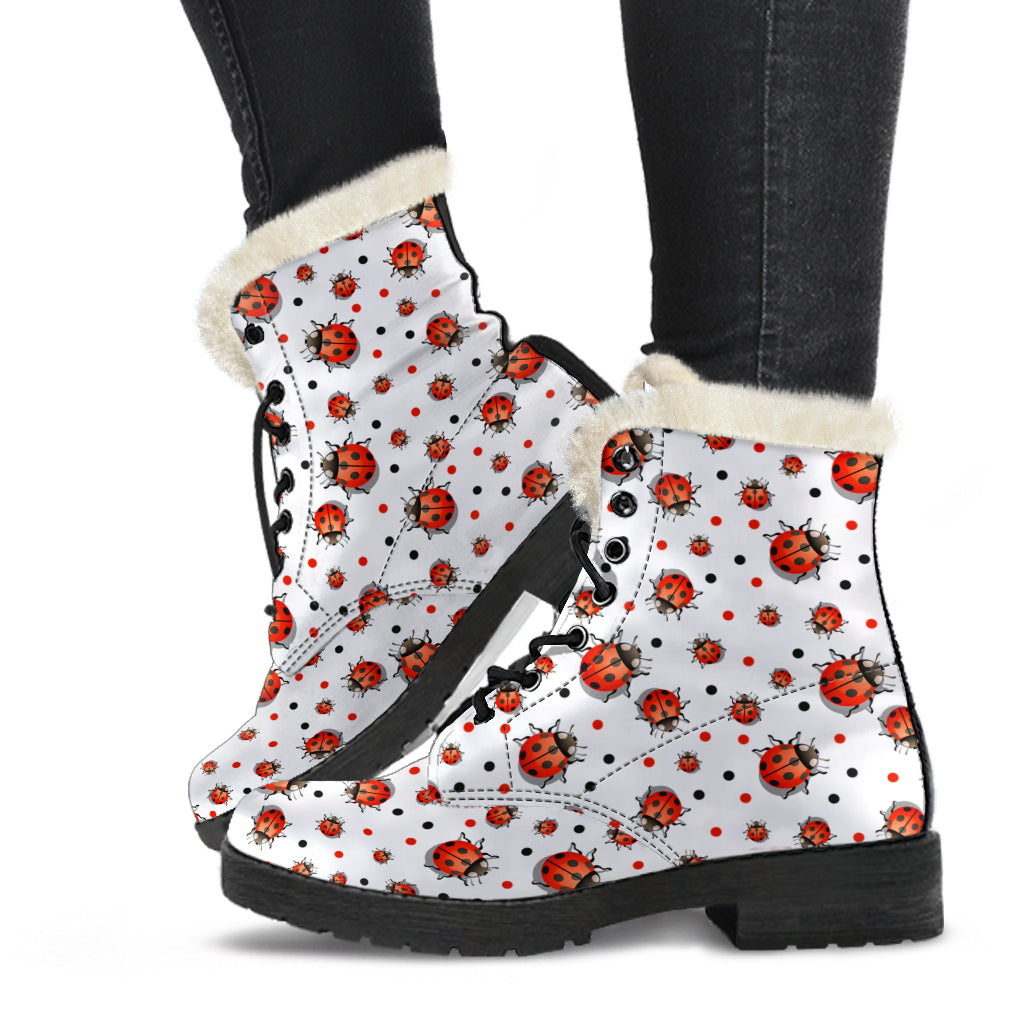 Ladybird Faux Fur Leather Boots