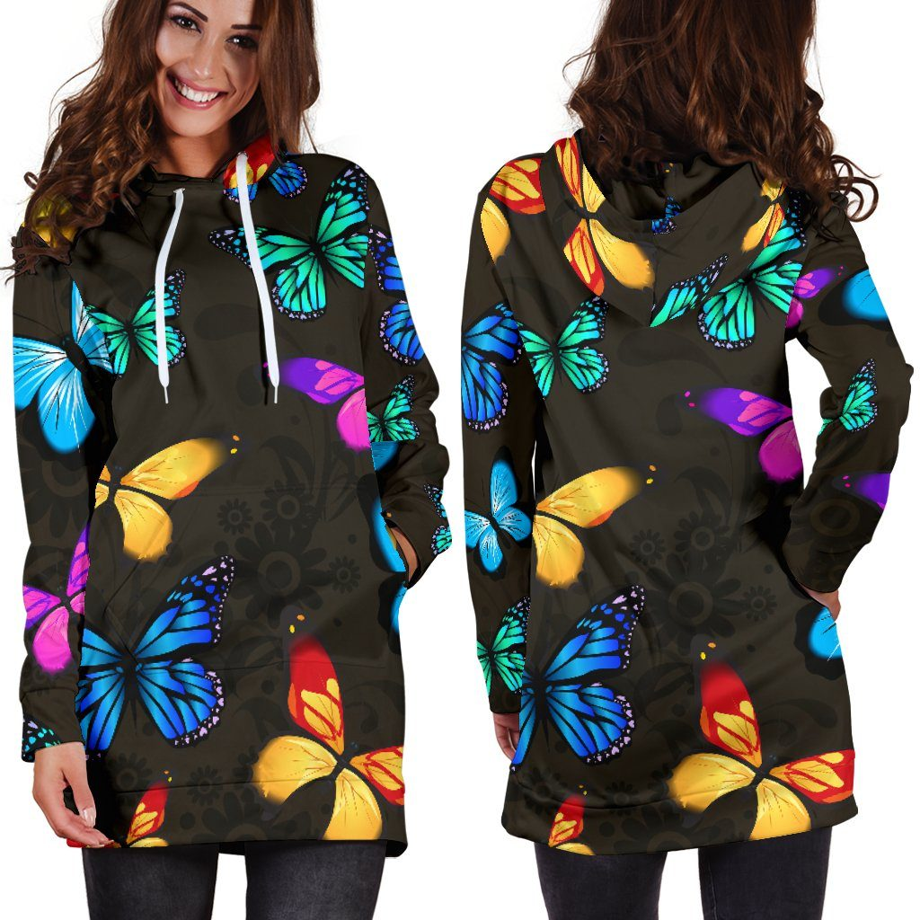 Butterfly Hoodie Dress (Handmade Premium Quality)