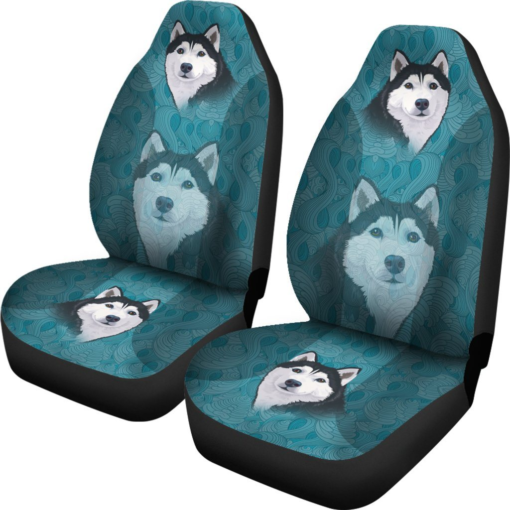 Blue Husky Car Seat Covers (SET OF 2)