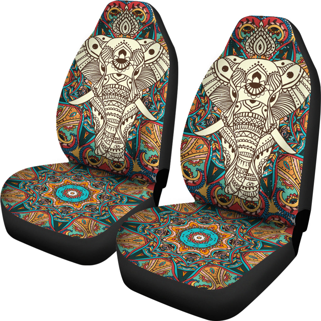 Boho Mandala Elephant Car Seat Cover