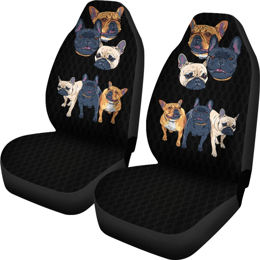 French Bulldog Themed Car Seat Covers (SET OF 2)