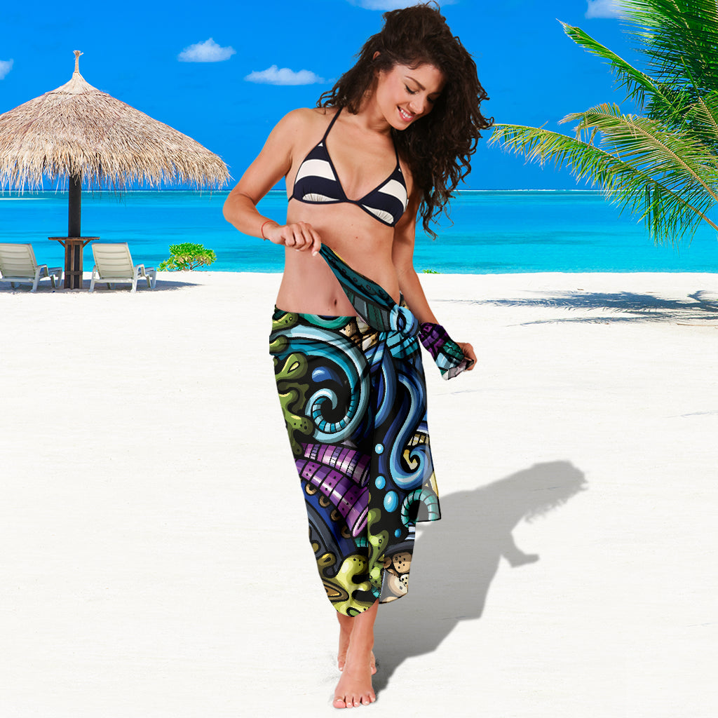 OCEAN FUNK SARONG BEACH COVER UP SWIMSUITS POOL ONE PIECE  SHAWL SCARF WRAP UP