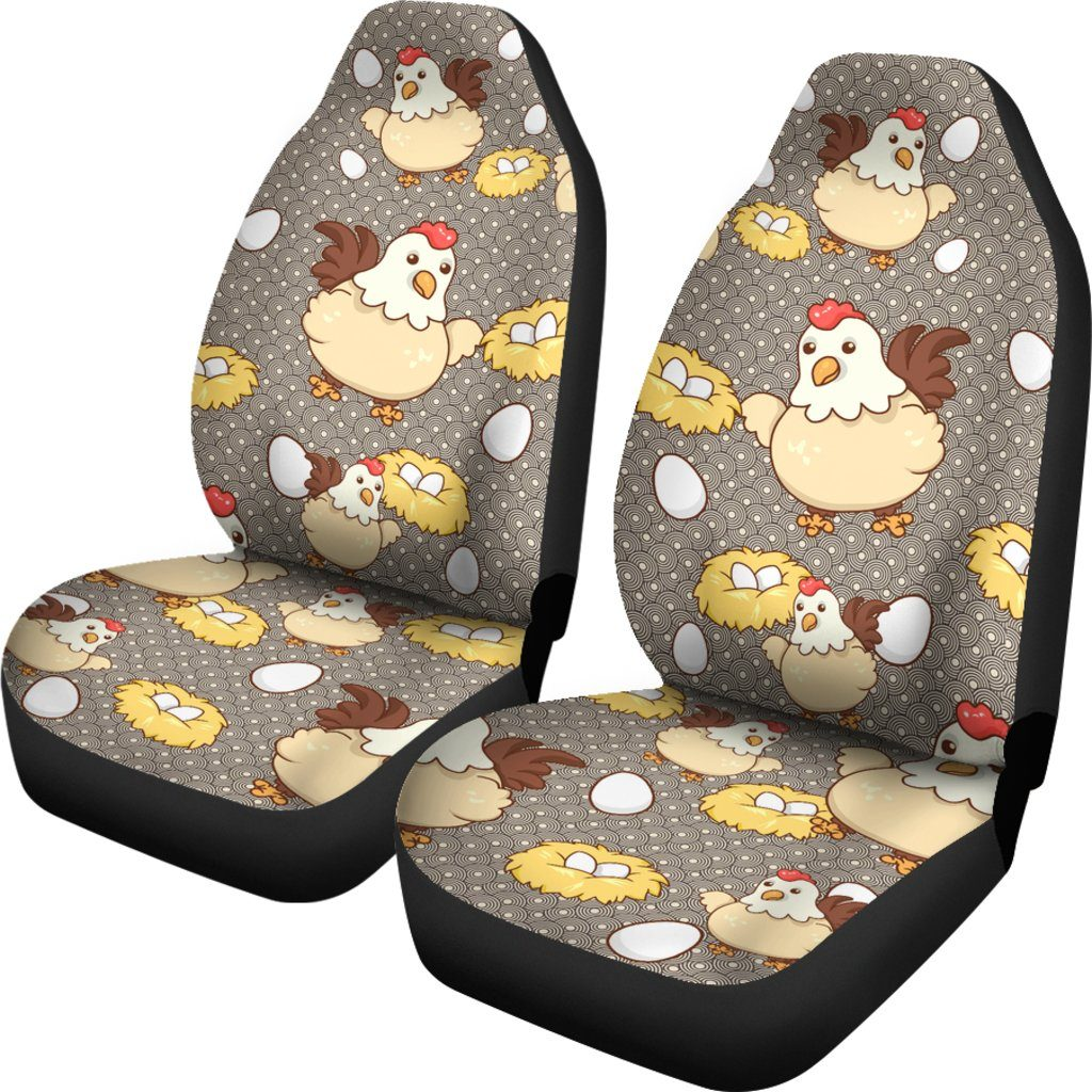 Chicken Egg Themed Car Seat Covers (SET OF 2)