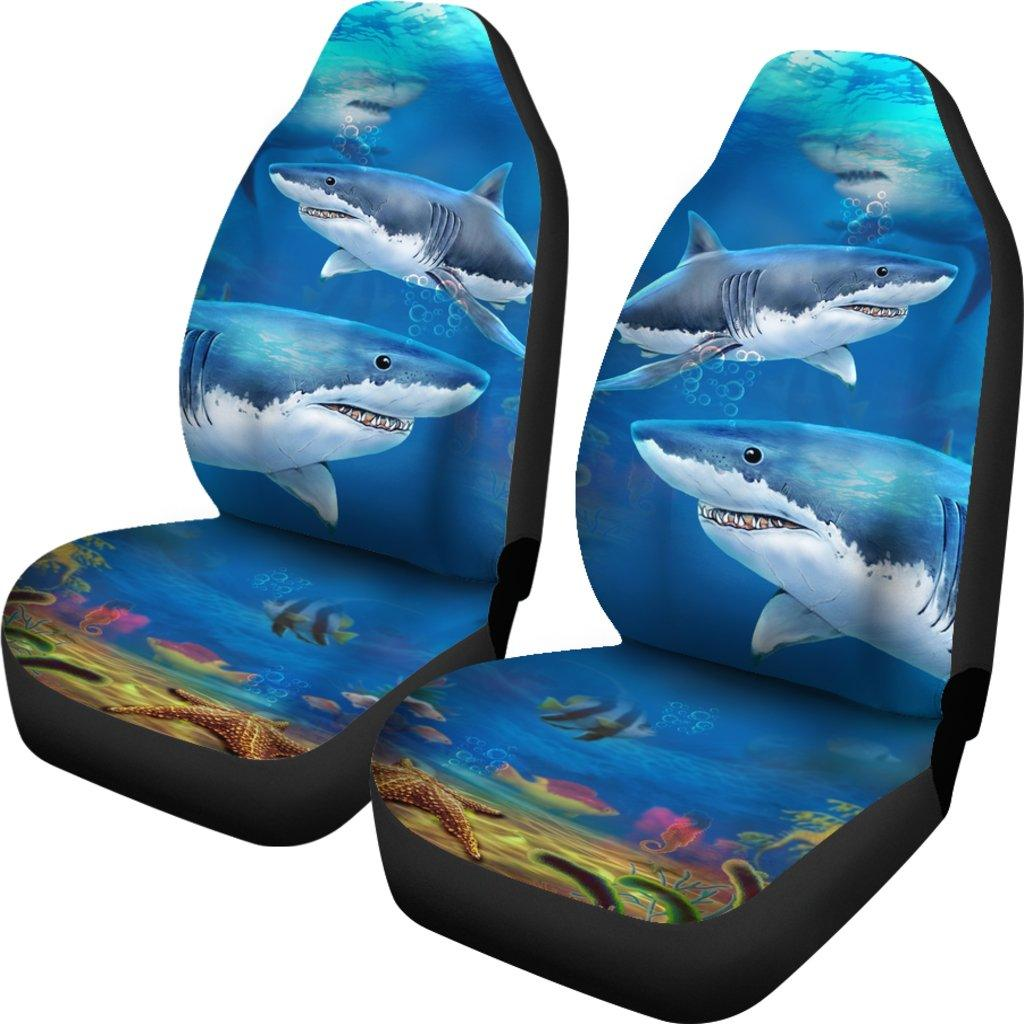 Shark Love Themed Car Seat Covers (SET OF 2)