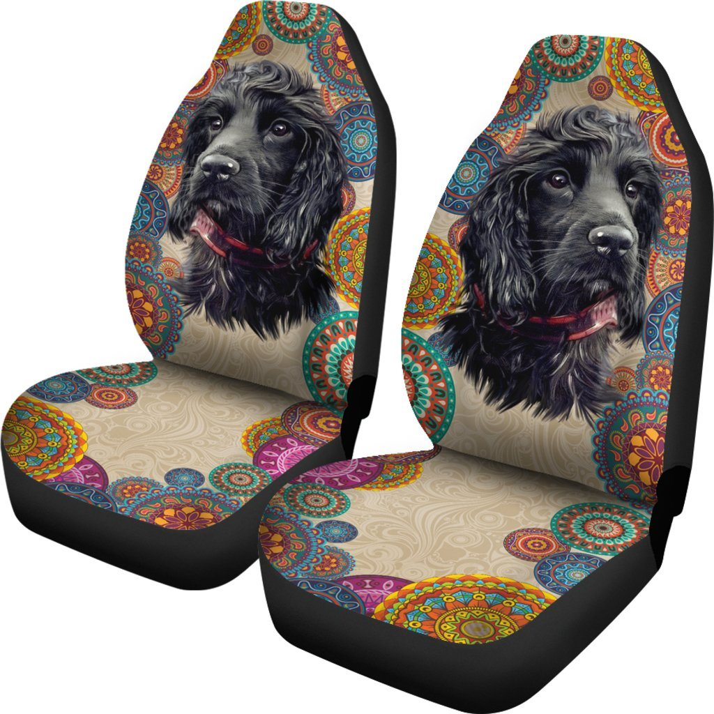 Cocker Spaniel Dog Lover Themed Car Seat Covers (SET OF 2)