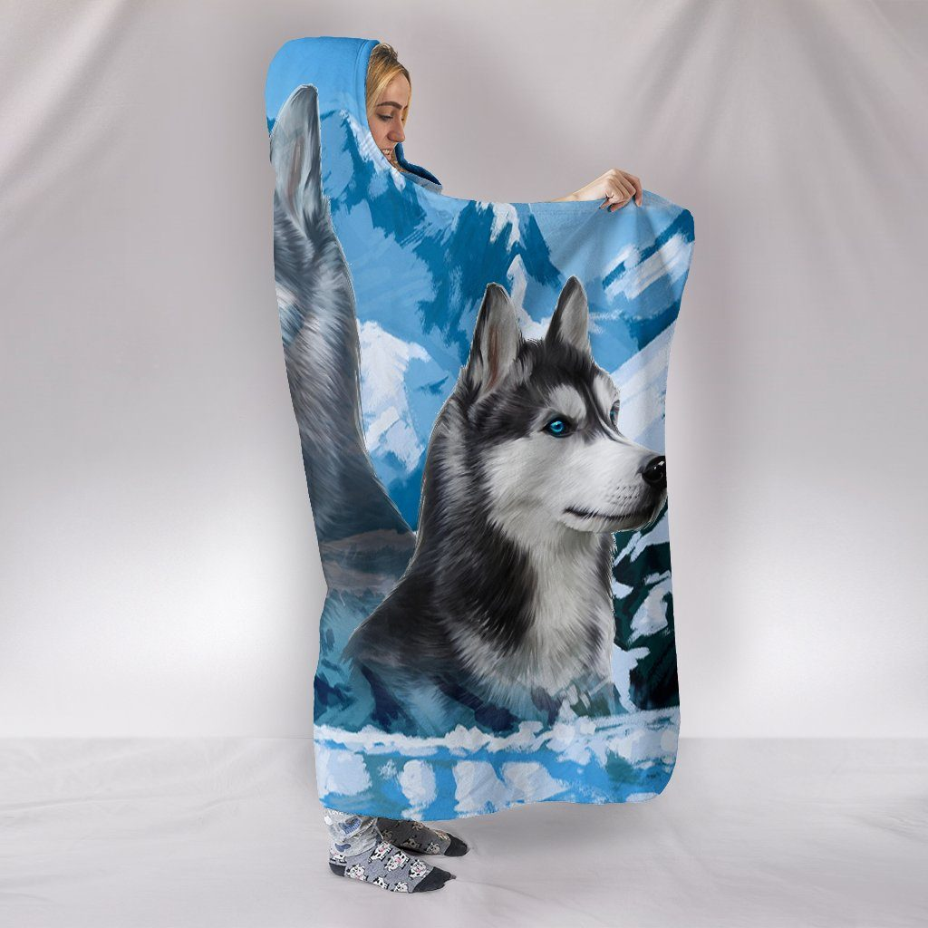 FREE SKY HUSKY HOODED BLANKET