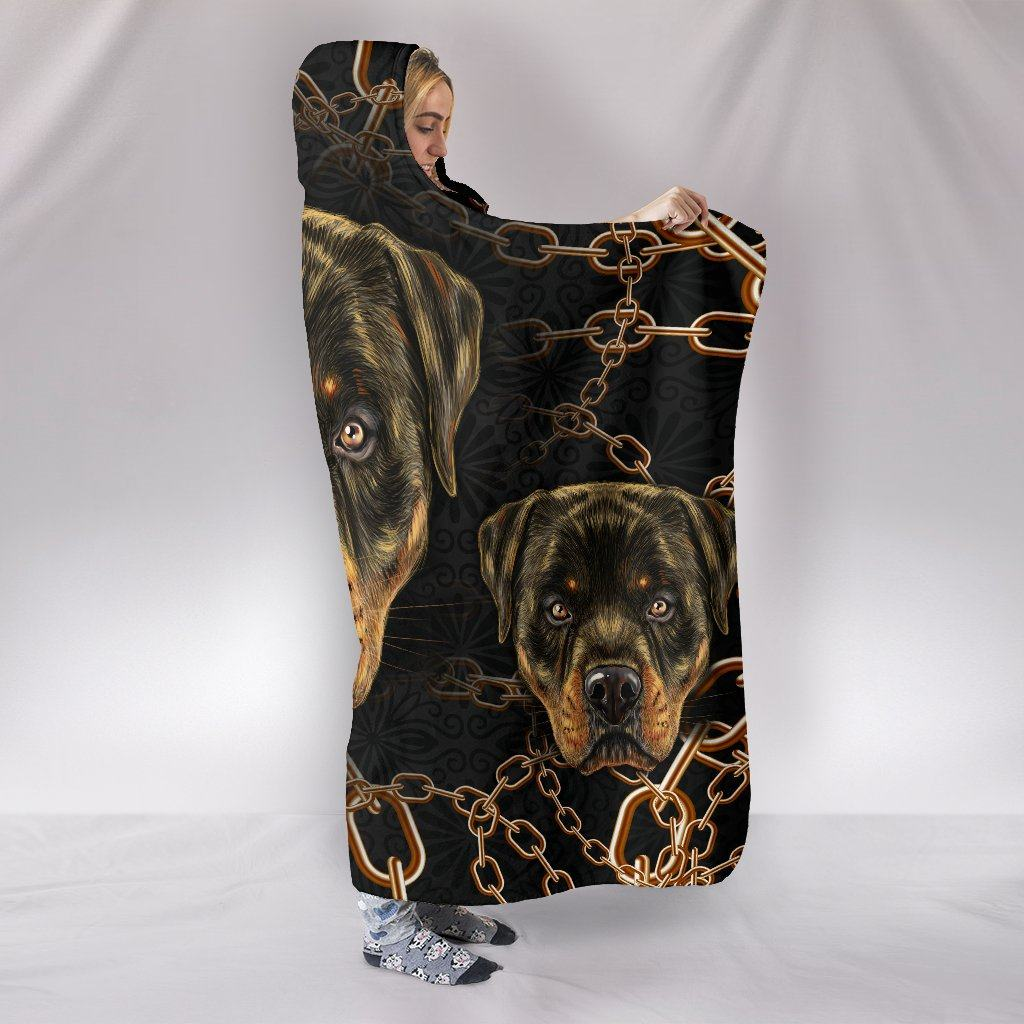 ROTTWEILER LOVE HOODED BLANKET