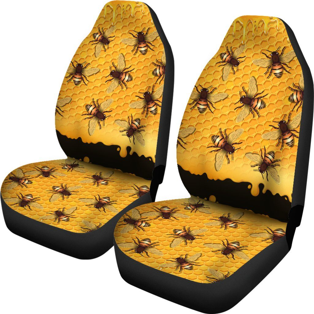 Bee Love Themed Car Seat Covers  (SET OF 2)