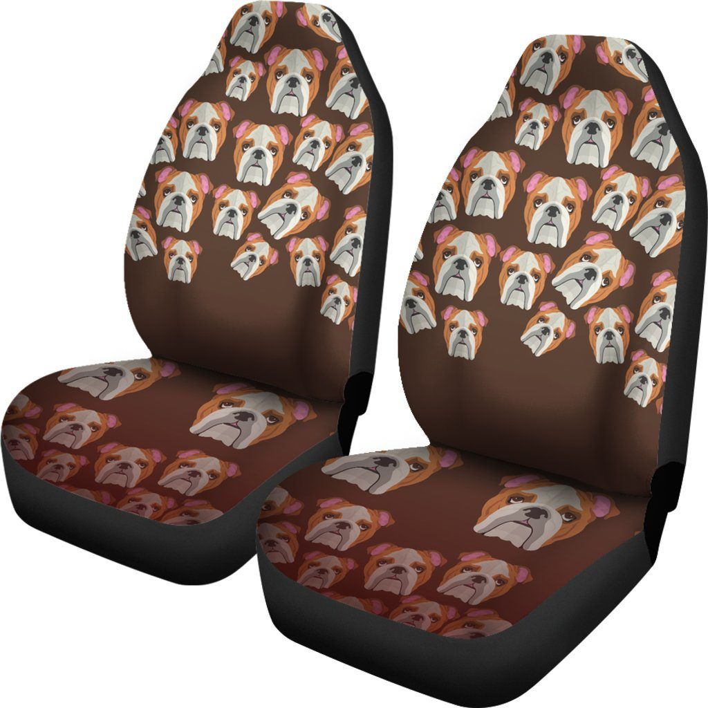 Bulldog Lover Themed Car Seat Covers (SET OF 2)