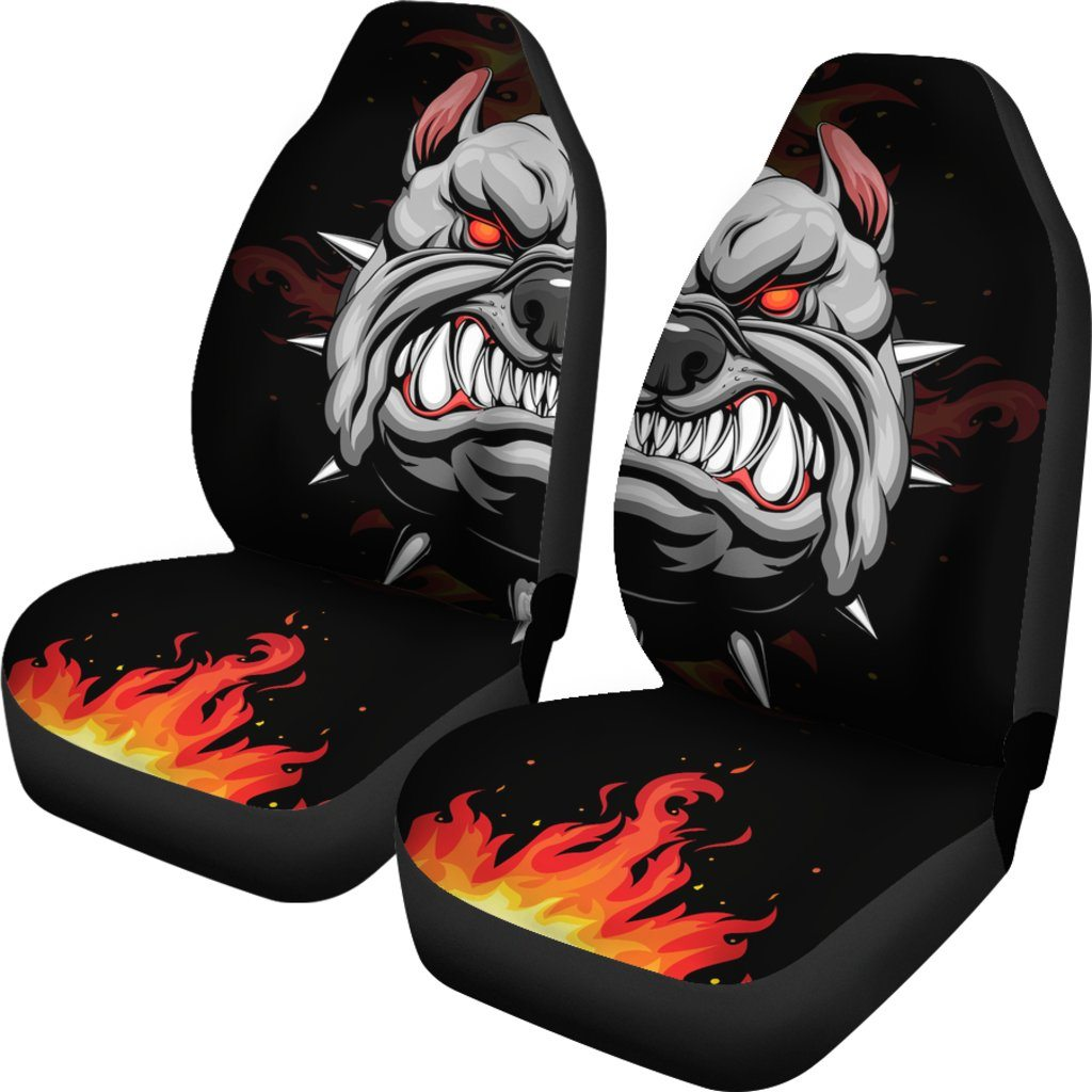 Bulldog Hero Themed Car Seat Covers (SET OF 2)