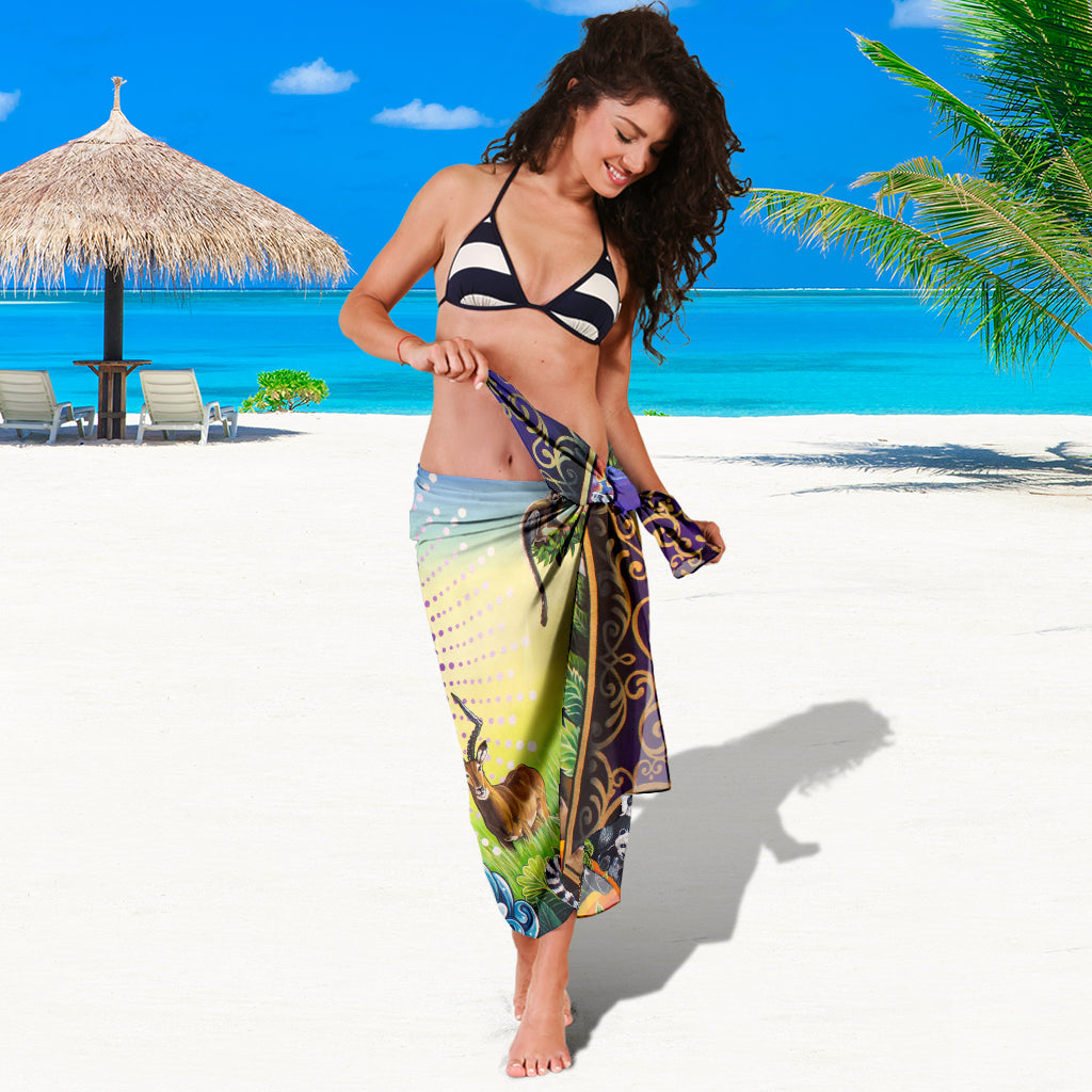 UNIVERSE AND I SARONG BEACH COVER UP SWIMSUITS POOL ONE PIECE  SHAWL SCARF WRAP UP