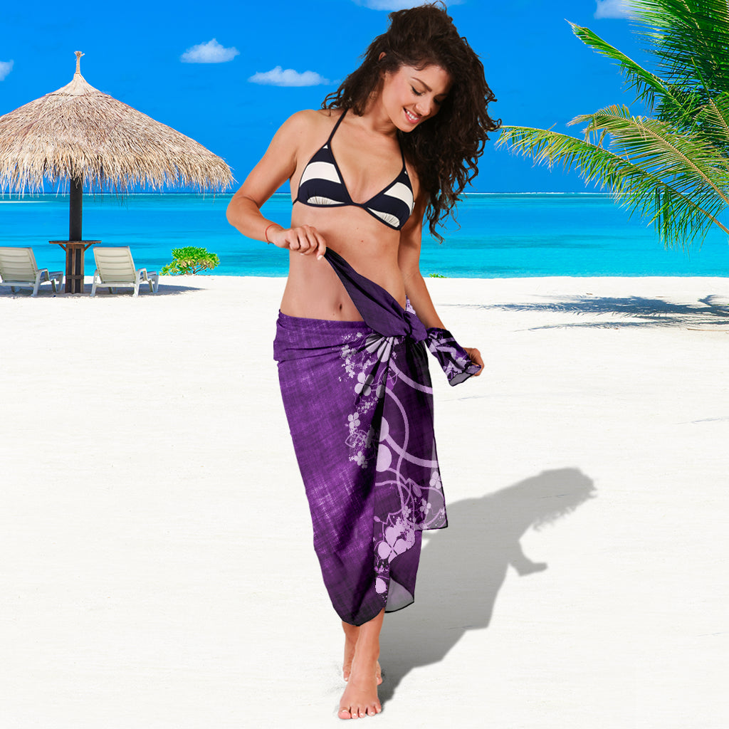 PURPLE CLOVER SARONG BEACH COVER UP SWIMSUITS POOL ONE PIECE  SHAWL SCARF WRAP UP