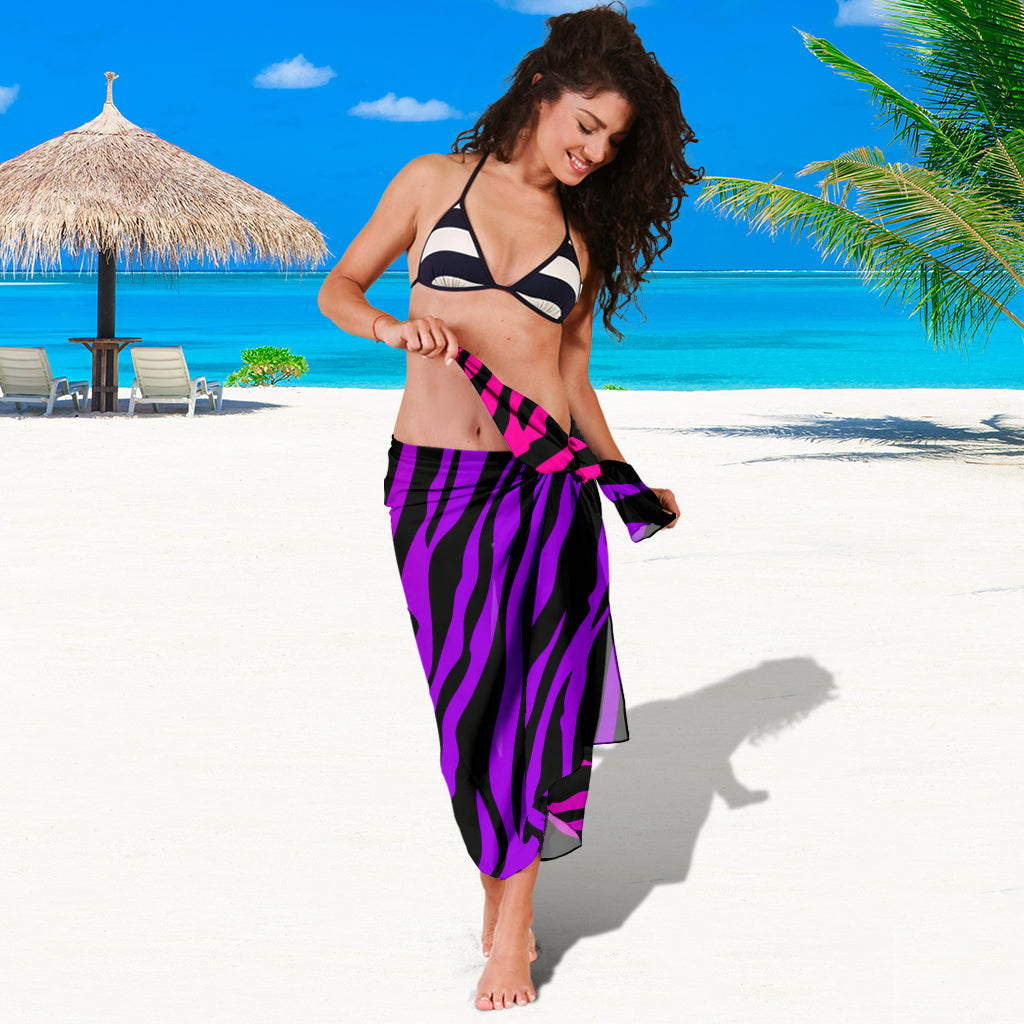 RAINBOW ZEBRA SARONG BEACH COVER UP SWIMSUITS POOL ONE PIECE  SHAWL SCARF WRAP UP