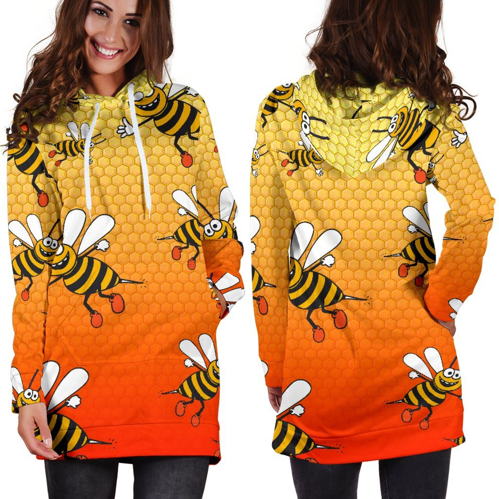 Bee Hoodie Dress (Handmade Premium Quality)