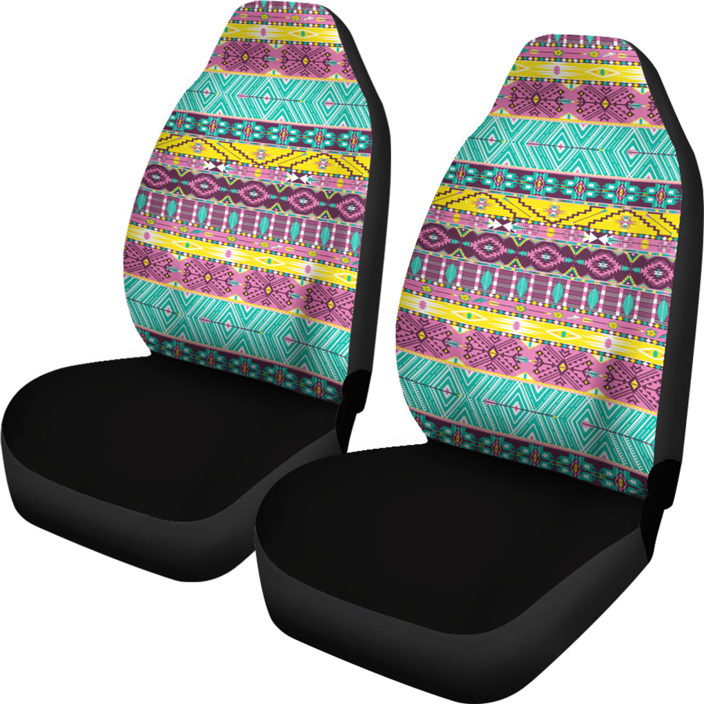 Boho Art Themed Car Seat Covers (SET OF 2)