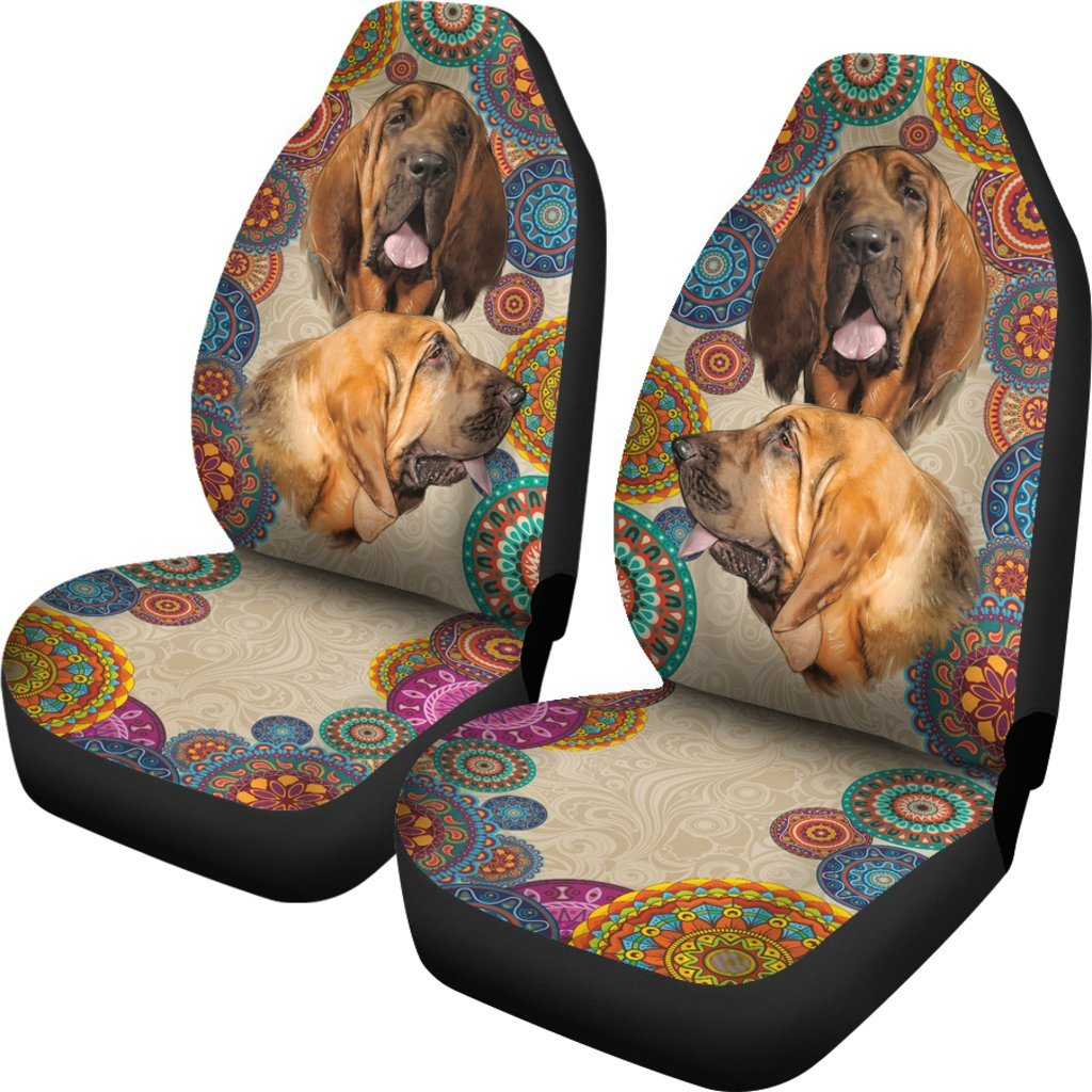 Bloodhound Dog Themed Car Seat Covers (SET OF 2)