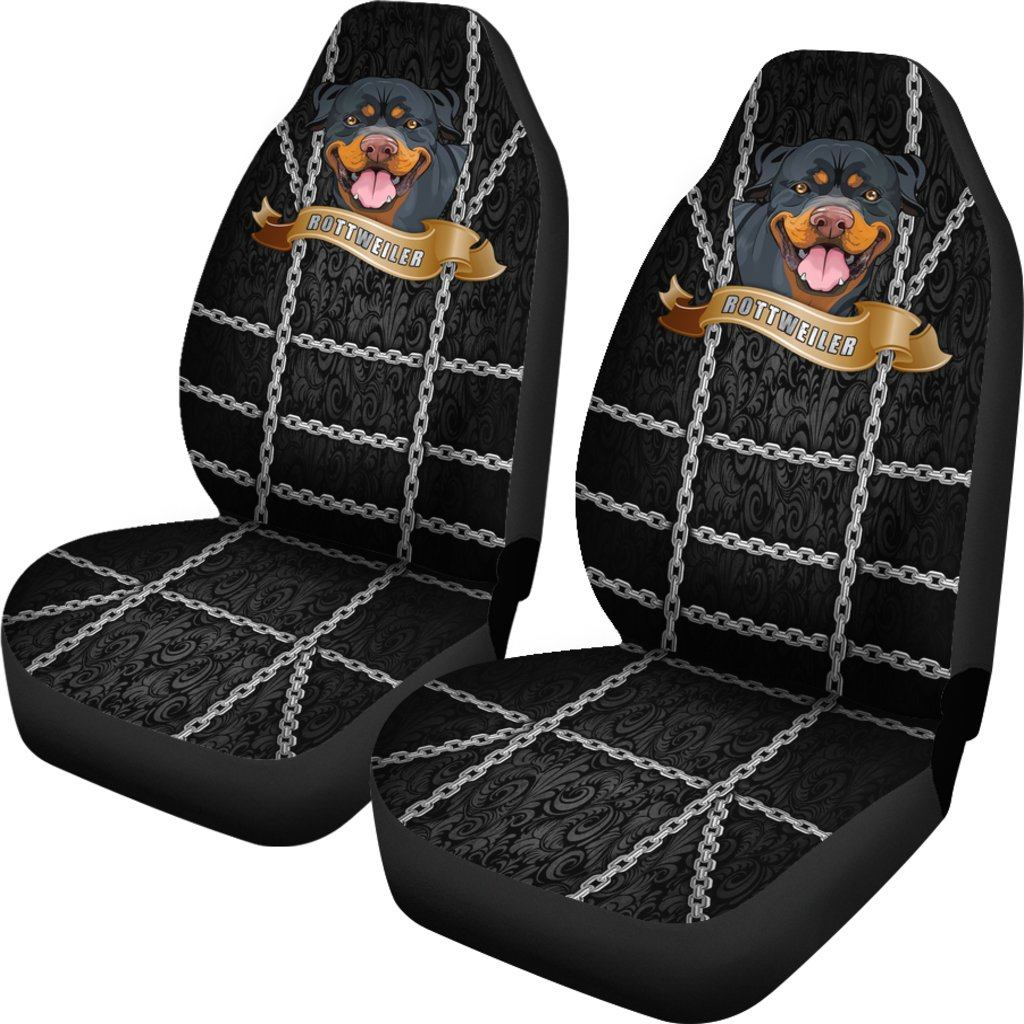 Rottweiler Dog Lover 2 Themed Car Seat Covers (SET OF 2)