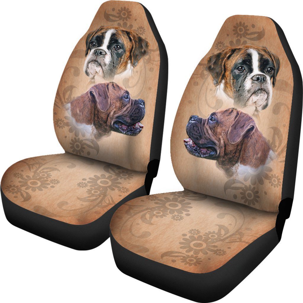 Boxer Dog Love Themed Car Seat Covers (SET OF 2)