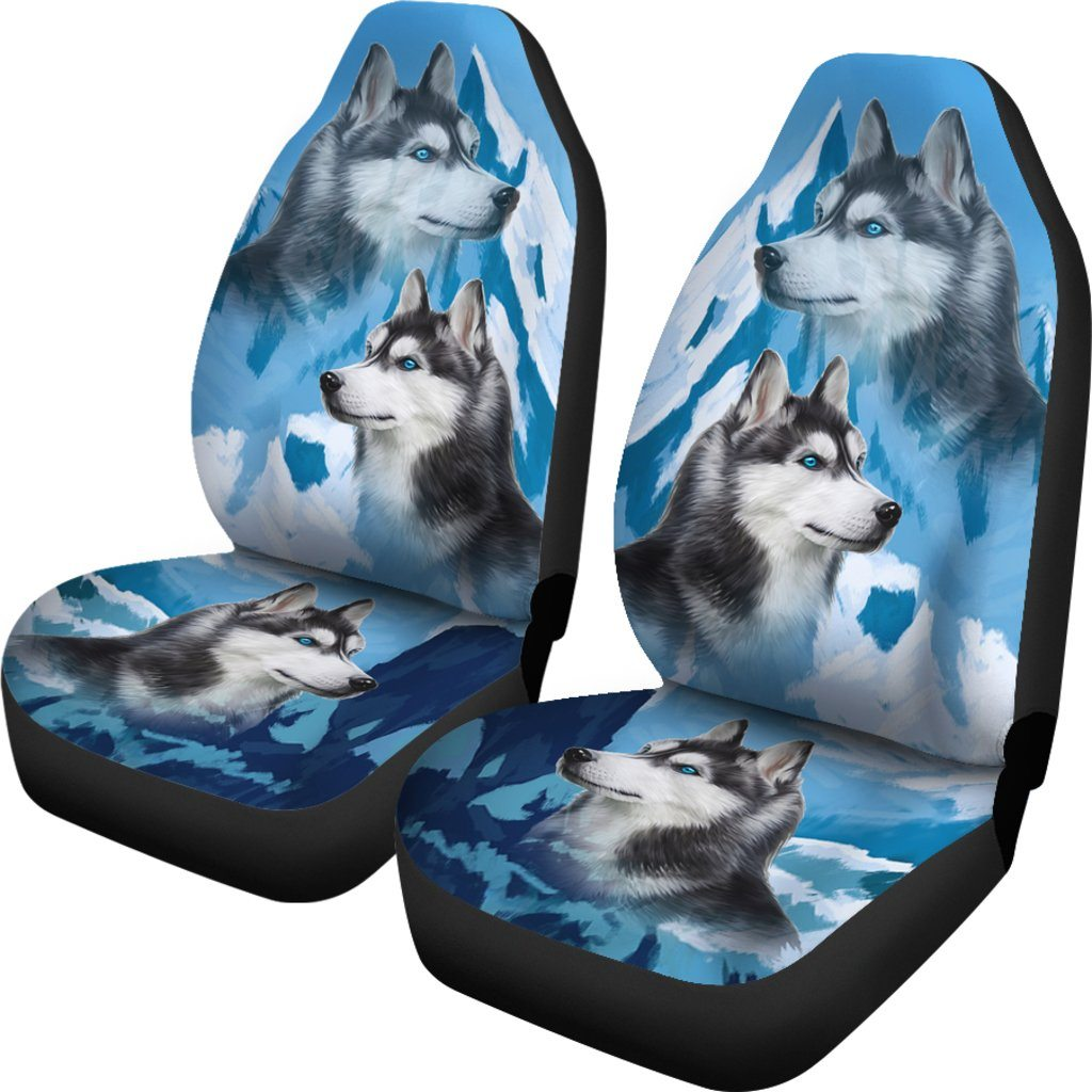 Husky Free Sky Themed Car Seat Covers (SET OF 2)