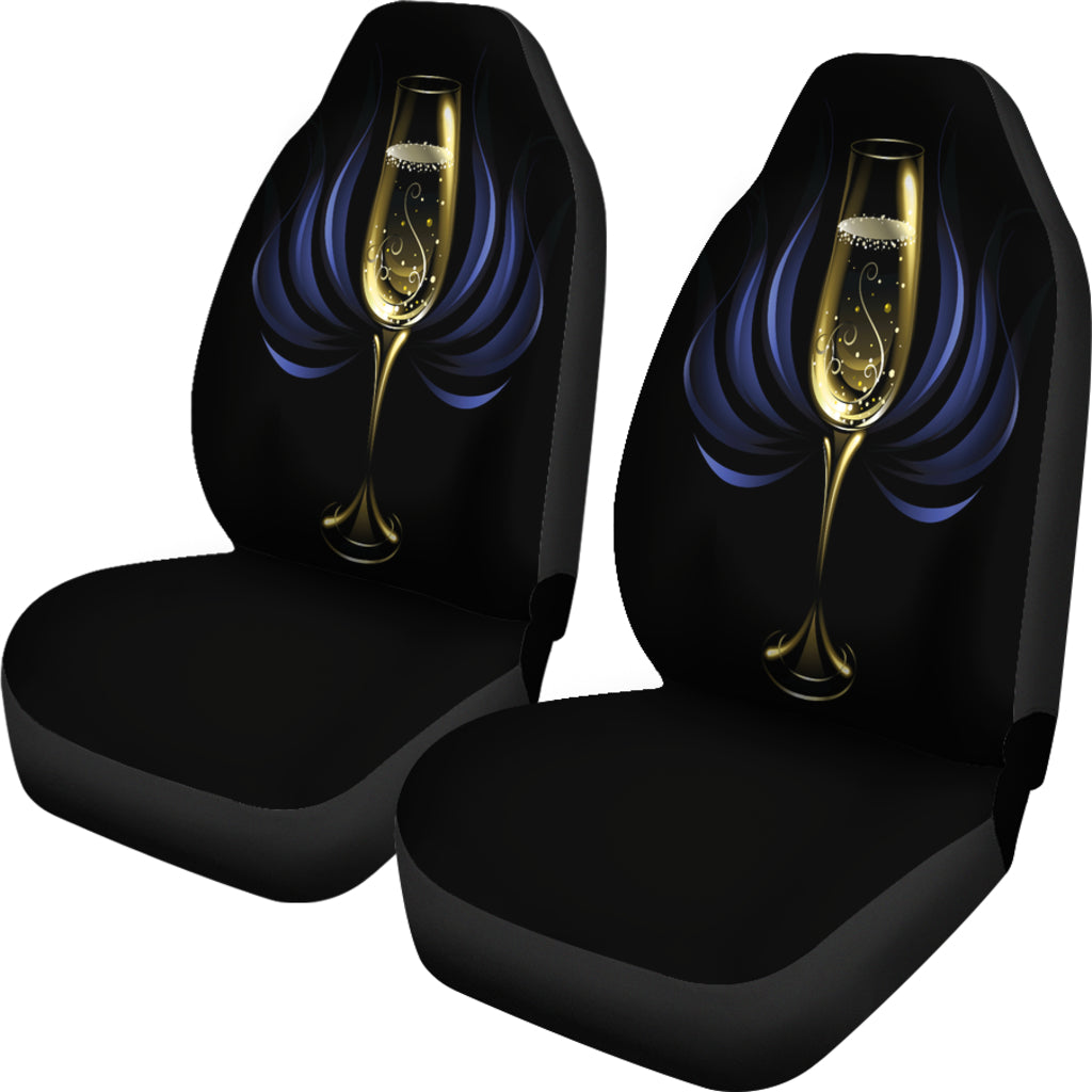 Champagne Themed Car Seat Covers (SET OF 2)