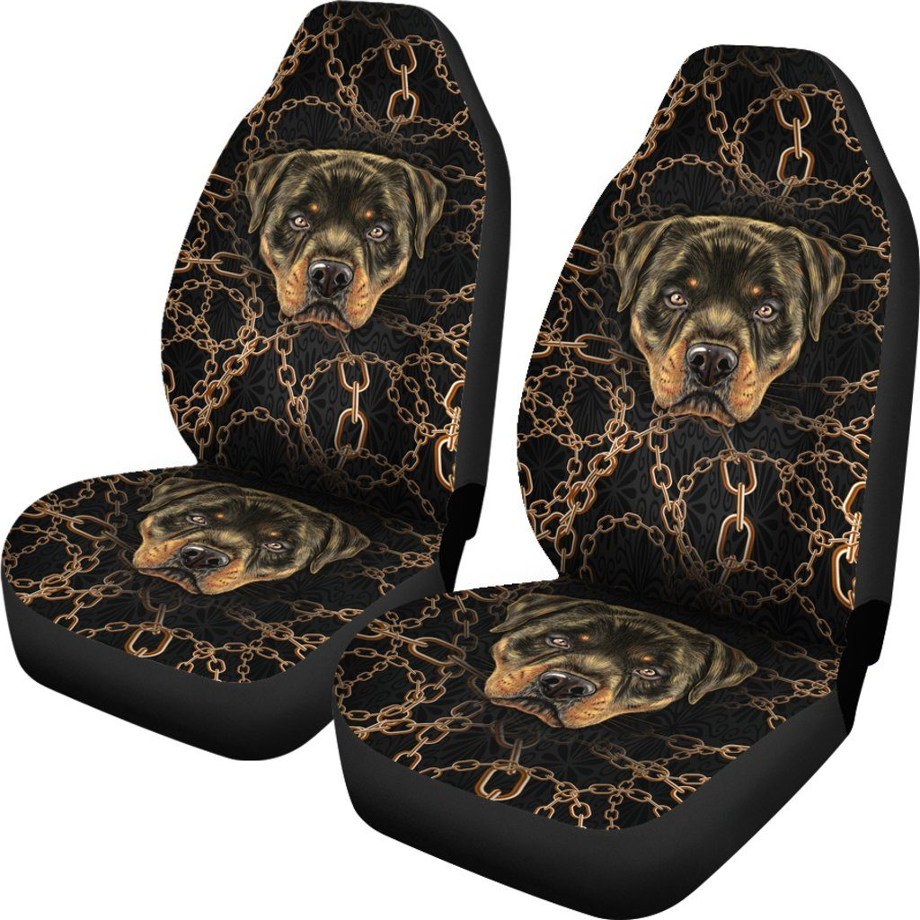 Rottweiler Dog Lover Themed Car Seat Covers (SET OF 2)