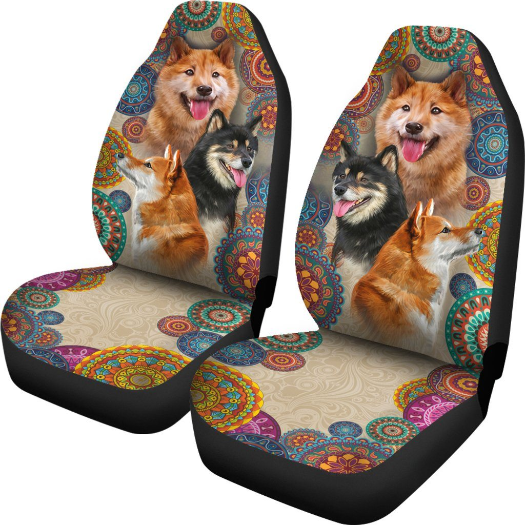 Shiba Inu Dog Themed Car Seat Covers (SET OF 2)
