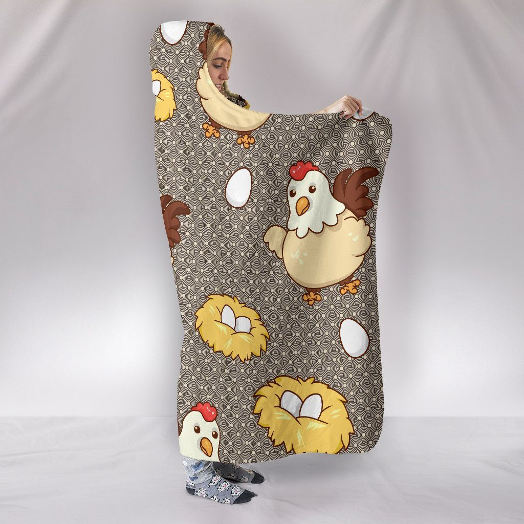 Chicken Egg Themed Hooded Blanket