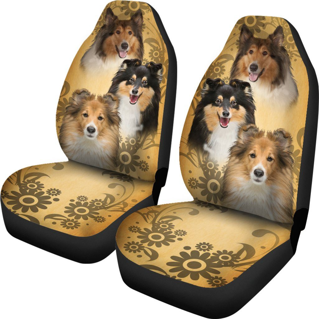 Collie Dog Themed Car Seat Covers (SET OF 2)
